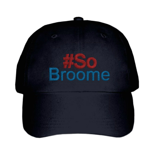 So Broome Peak Cap Black Embroided
