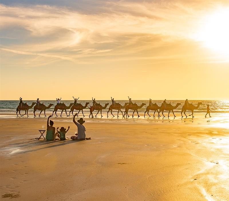 You Know You're in Broome When the Visitors Turn Their Back on the Sunset